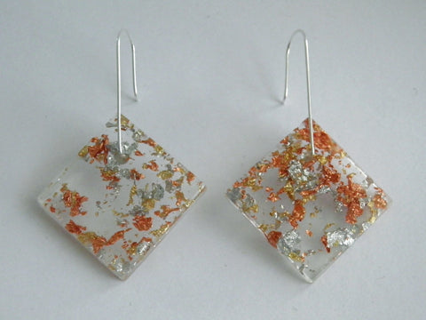 SALE SuperFancy Clear Square Earrings