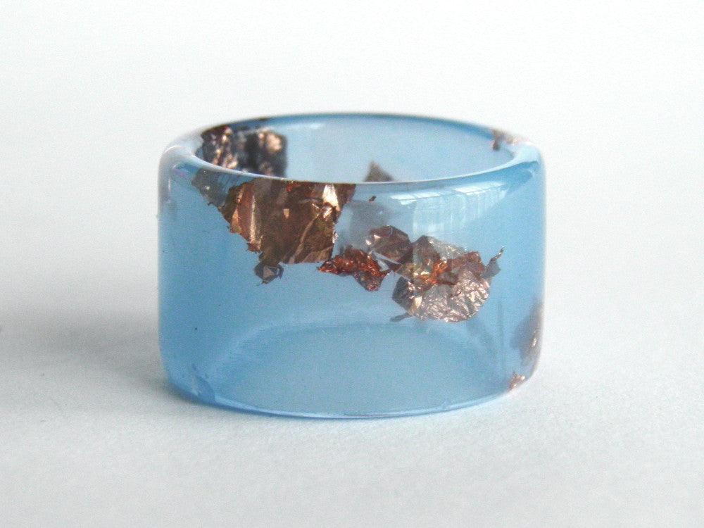 Pastel Blue Cuff Ring / Size 8