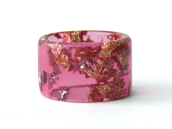 SuperFancy Pink Cuff Ring / Size 8
