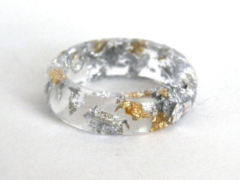 Fancy Clear Resin Ring - Round (Sizes 5.5 - 10)