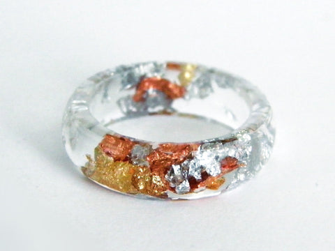 SuperFancy Clear Resin Ring / Size 7