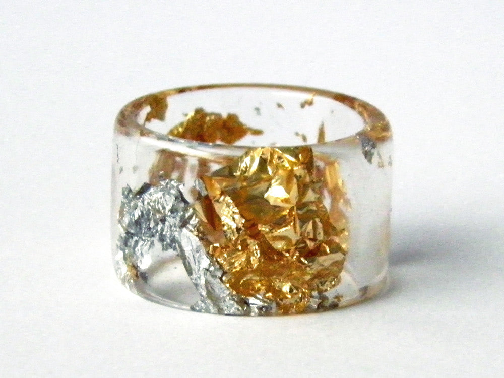 Fancy Clear Cuff Ring / Size 8