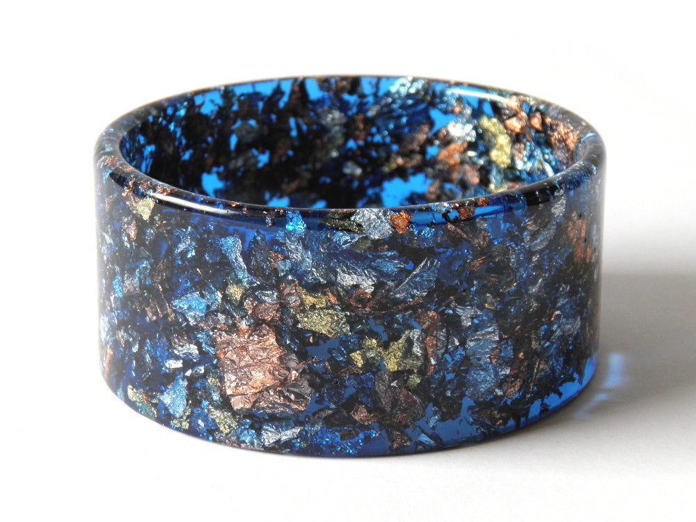 SALE SuperFancy Blue Resin Cuff Bangle