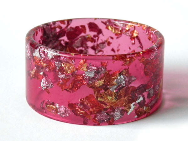 SALE SuperFancy Pink Resin Cuff Bangle
