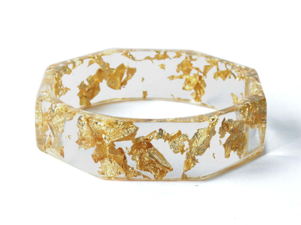 Gold Octagon Bangle