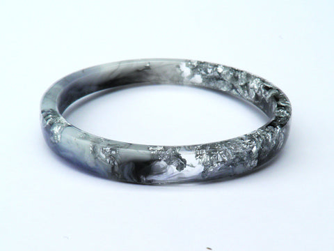 Monochrome Resin Stacker Bangle / REGULAR SIZE
