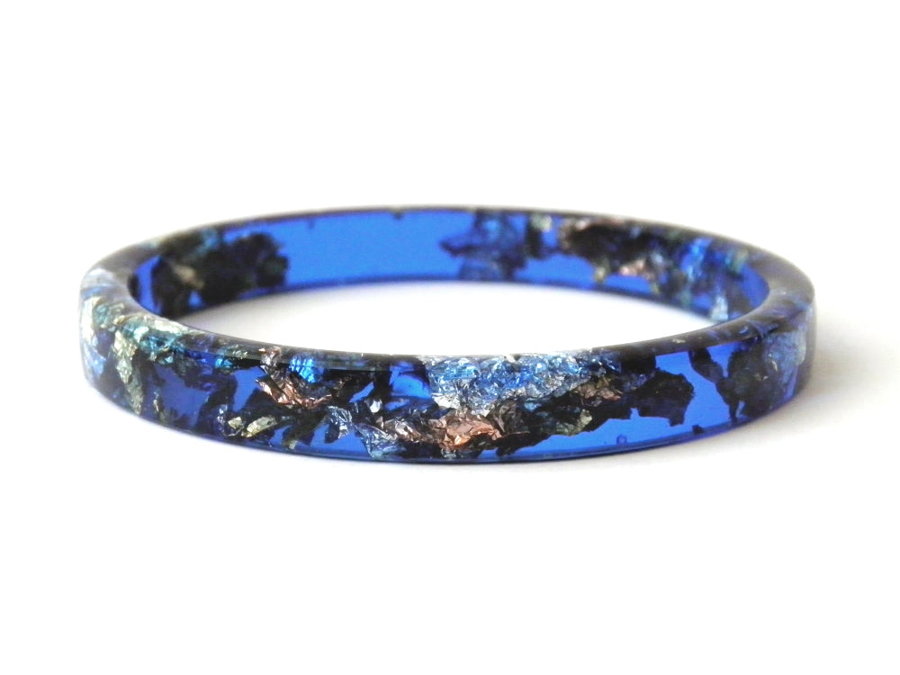 SuperFancy Blue Stacker Bangle / REGULAR SIZE
