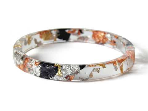 Tortoiseshell Resin Stacker Bangle / REGULAR SIZE