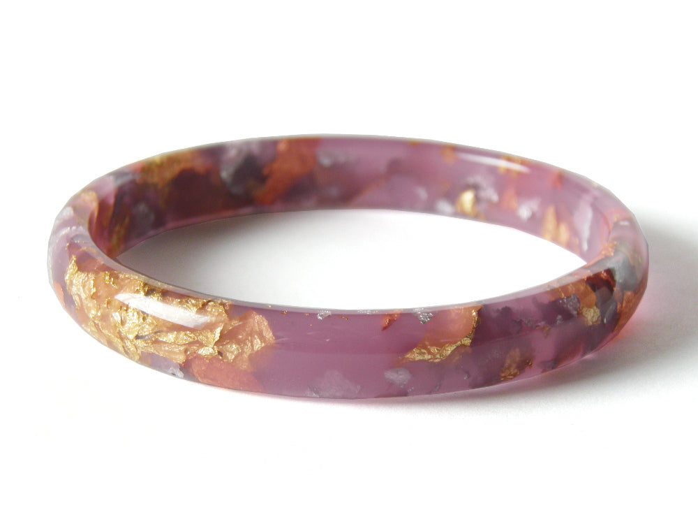 Lilac Resin Stacker Bangle / LARGE SIZE