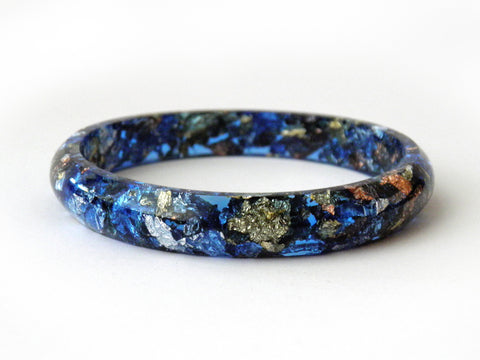 SuperFancy Blue Stacker Bangle / SMALL SIZE