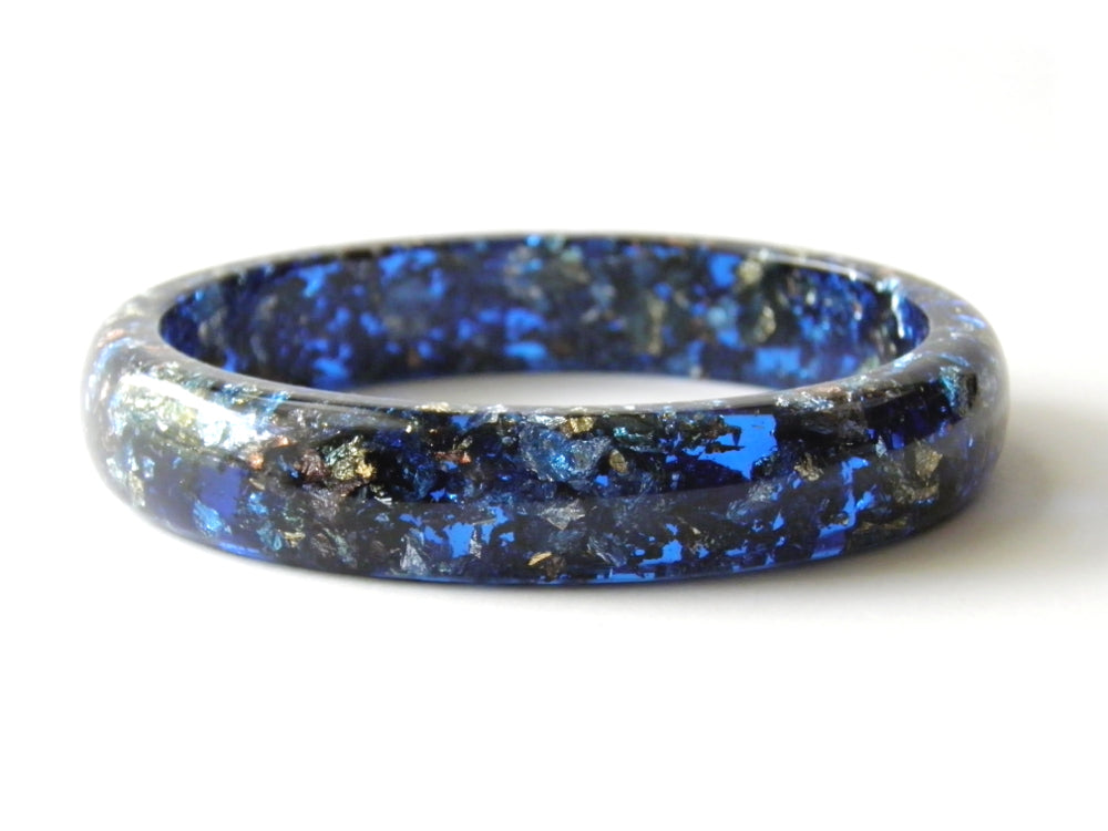 SuperFancy Blue Stacker Bangle / XL SIZE