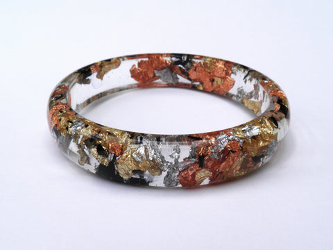 Tortoiseshell Stacker Bangle / XL SIZE