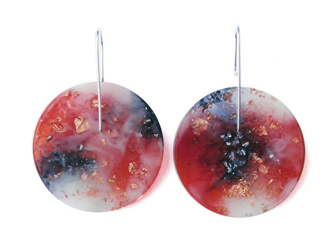 Nebula Circle Earrings / Large