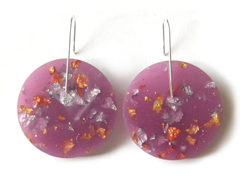 SuperFancy Lilac Circle Earrings / Large