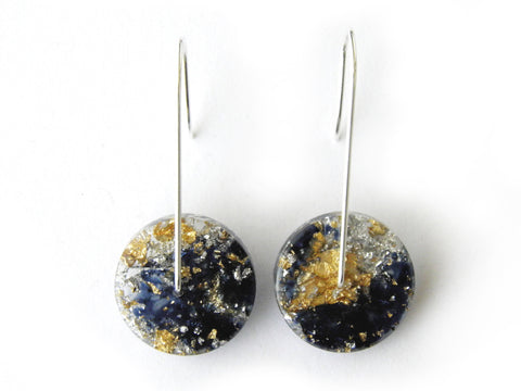 Moonshine Circle Resin Earrings / Mini