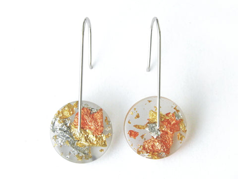 SuperFancy Clear Circle Resin Earrings / Mini