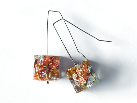 SuperFancy Clear Cube Earrings