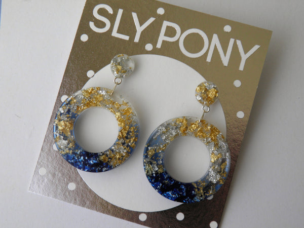 SuperFancy Black Donut Drop Studs