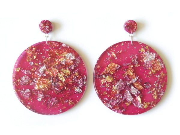 SuperFancy Pink Mega Drop Studs