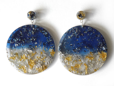 SALE Moonshine Resin Mega Drop Studs