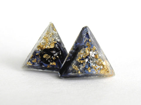 Moonshine Triangle Stud Earrings