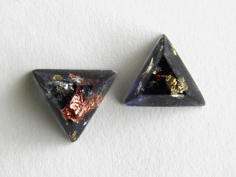 SuperFancy Black Triangle Stud Earrings