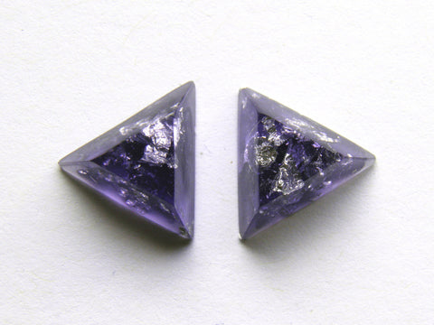 Discontinued Sale: Purple + Silver Triangle Stud Earrings