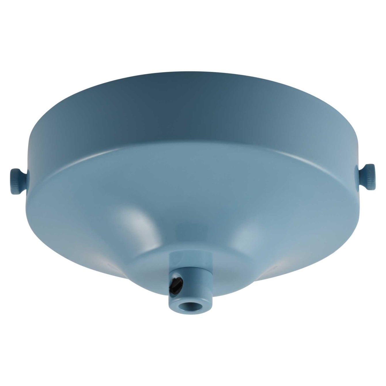 ElekTek 100mm Diameter Convex Ceiling Rose with Strap Bracket and Cord Grip Metallic Finishes Powder Coated Colours - Buy It Better