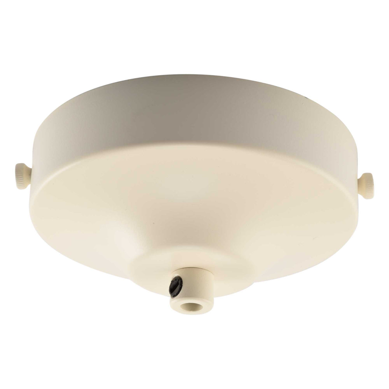 ElekTek 100mm Diameter Convex Ceiling Rose with Strap Bracket and Cord Grip Metallic Finishes Powder Coated Colours - Buy It Better Jet Black