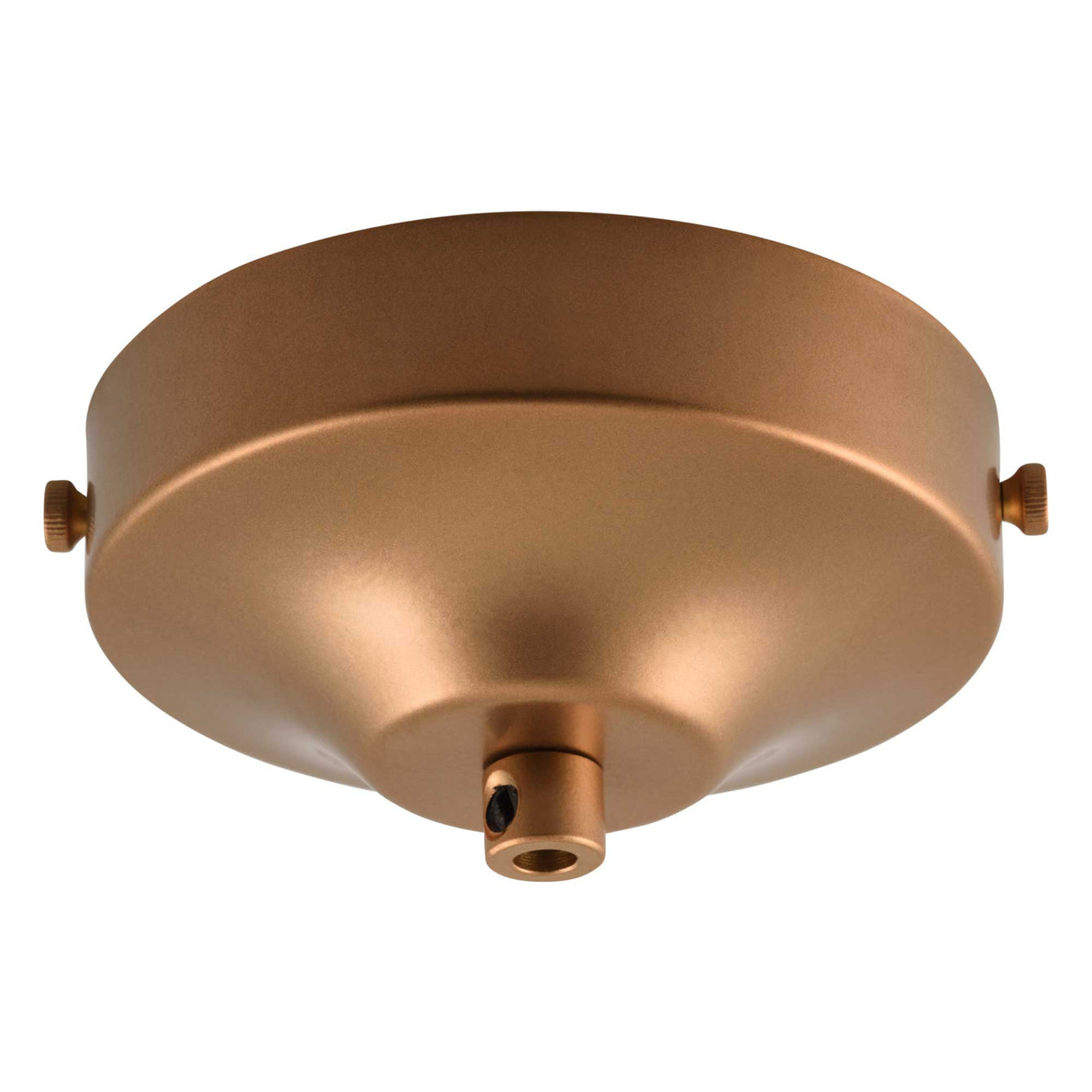 ElekTek 100mm Diameter Convex Ceiling Rose with Strap Bracket and Cord Grip Metallic Finishes Powder Coated Colours - Buy It Better Brilliant White