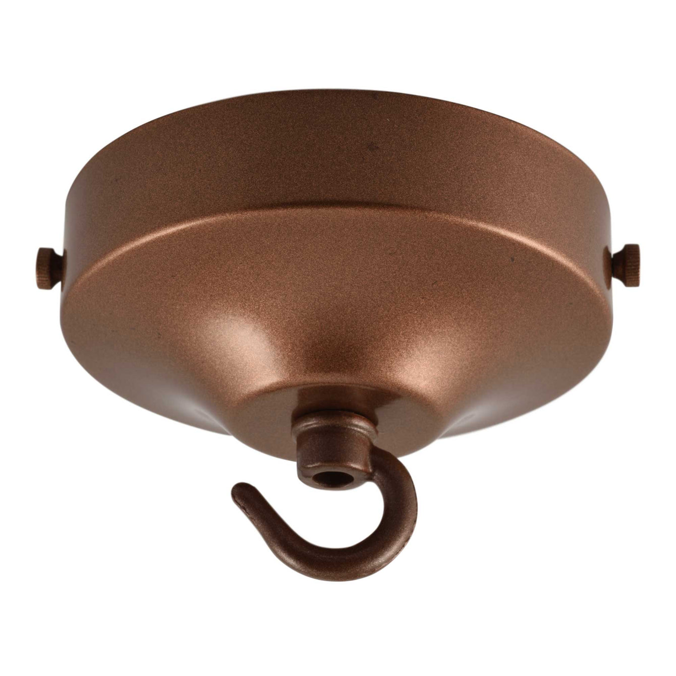 ElekTek 100mm Diameter Convex Ceiling Rose with Strap Bracket and Hook Metallic and Powder Coated Finishes Black