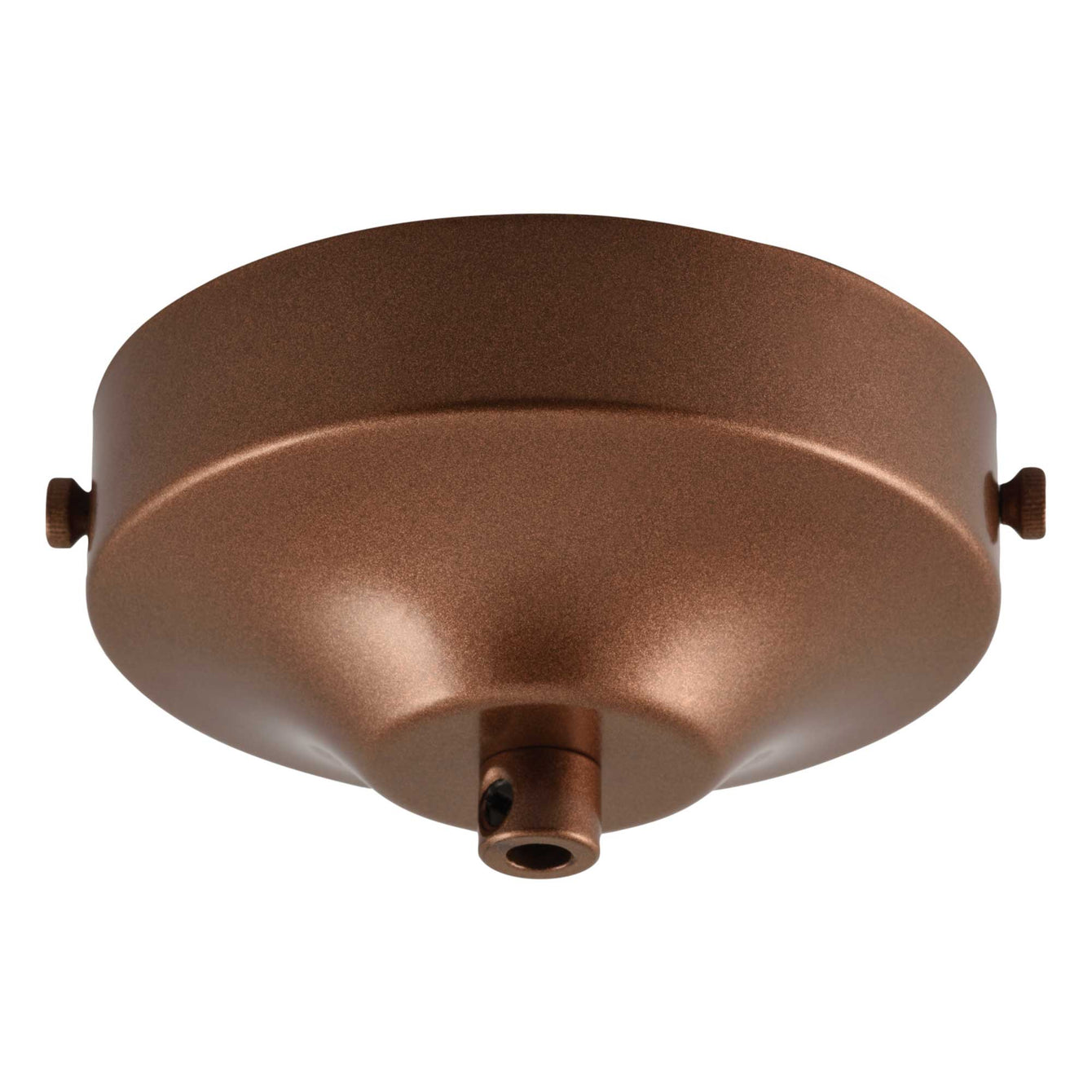 ElekTek 100mm Diameter Convex Ceiling Rose with Strap Bracket and Cord Grip Metallic Finishes Powder Coated Colours - Buy It Better Chrome