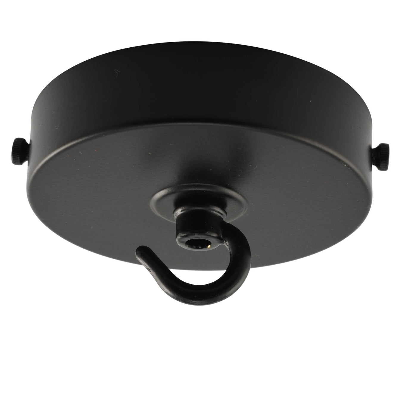 ElekTek 100mm Diameter Flat Top Ceiling Rose with Strap Bracket and Hook Metallic Finishes Powder Coated Colours - Buy It Better