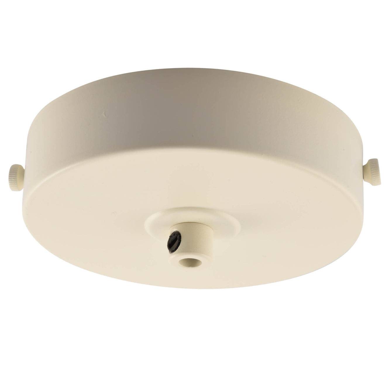 ElekTek 100mm Diameter Flat Top Ceiling Rose with Strap Bracket and Cord Grip Metallic Finishes Powder Coated Colours - Buy It Better