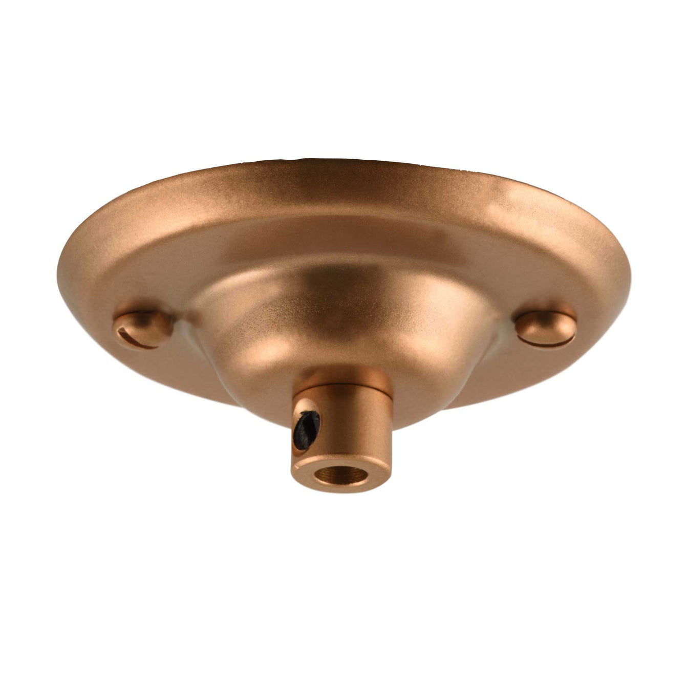ElekTek 75mm Diameter Ceiling Plate with Cord Grip Metallic Finishes Powder Coated Colours Pink