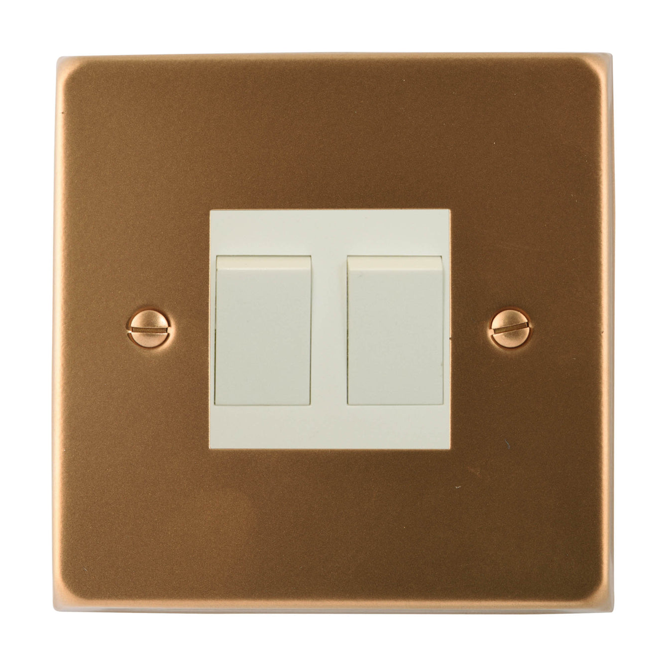 ElekTek Light Switch Conversion Cover Plate Double Victorian - Buy It Better Brilliant White