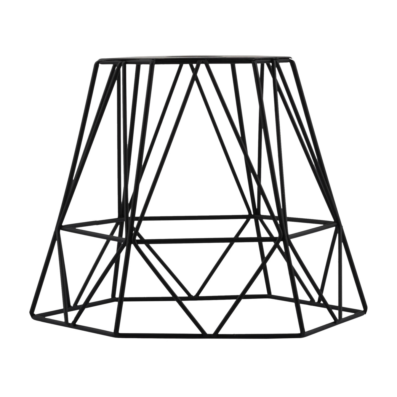 ElekTek Vintage Mora Hexagonal Medium Polyangle Cage Wire Frame Lamp Shade Colours - Buy It Better