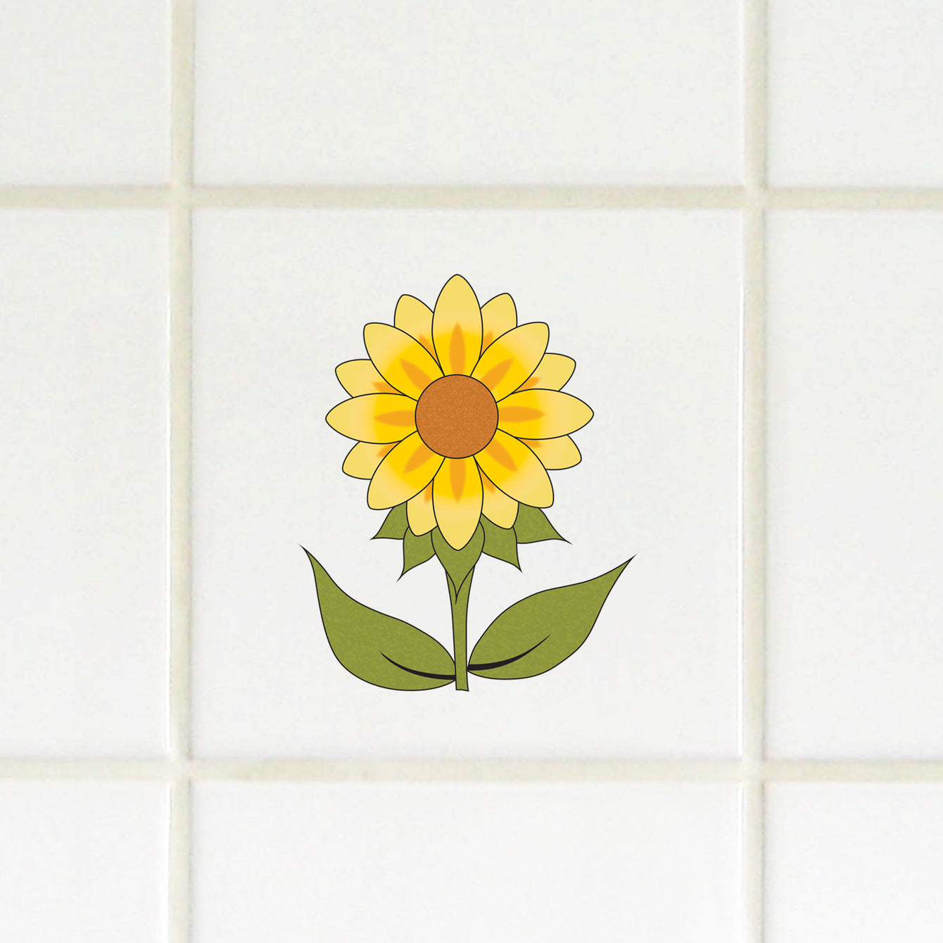 Water Slide Tile Transfers Inset Sunflower Bee - Buy It Better