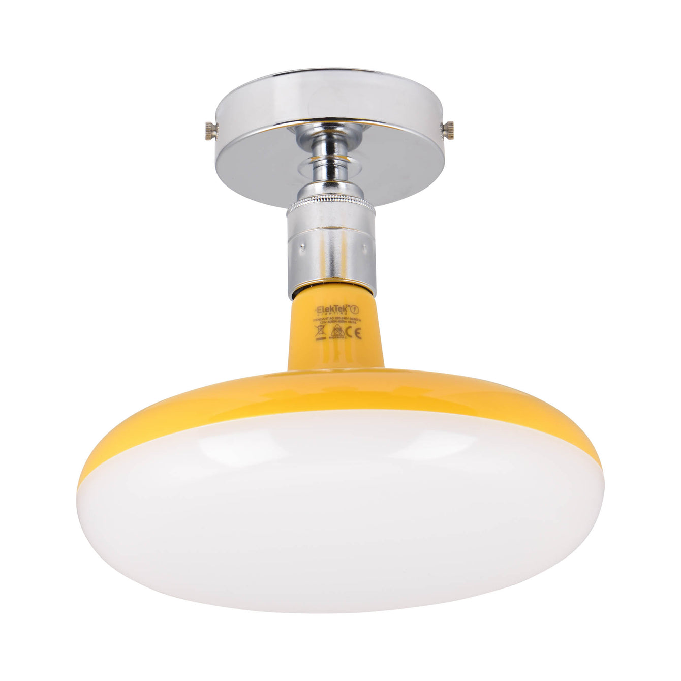 ElekTek Axmar Compact Ceiling Pendant Light Set Ideal for Lower Ceilings with 12 or 18 watt LED Lamp Colours - Buy It Better White / Turquoise / 12 W