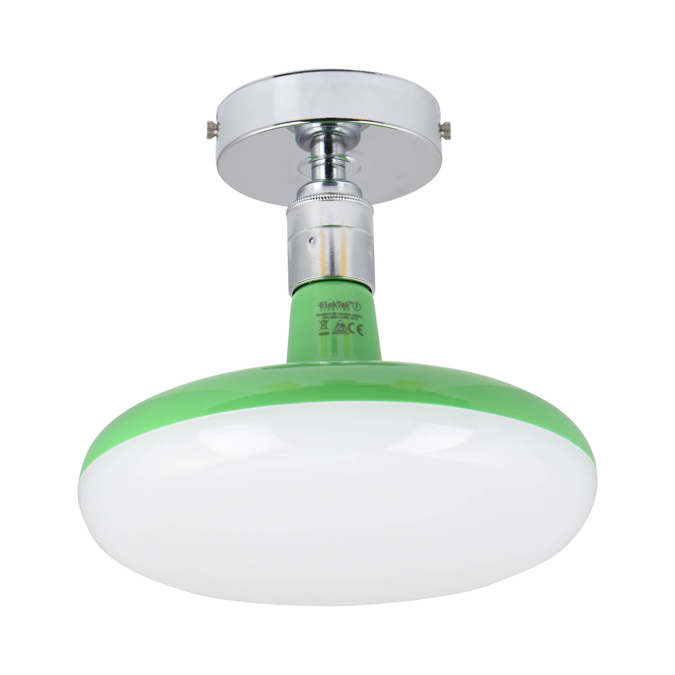 ElekTek Axmar Compact Ceiling Pendant Light Set Ideal for Lower Ceilings with 12 or 18 watt LED Lamp Colours - Buy It Better White / Turquoise / 18 W
