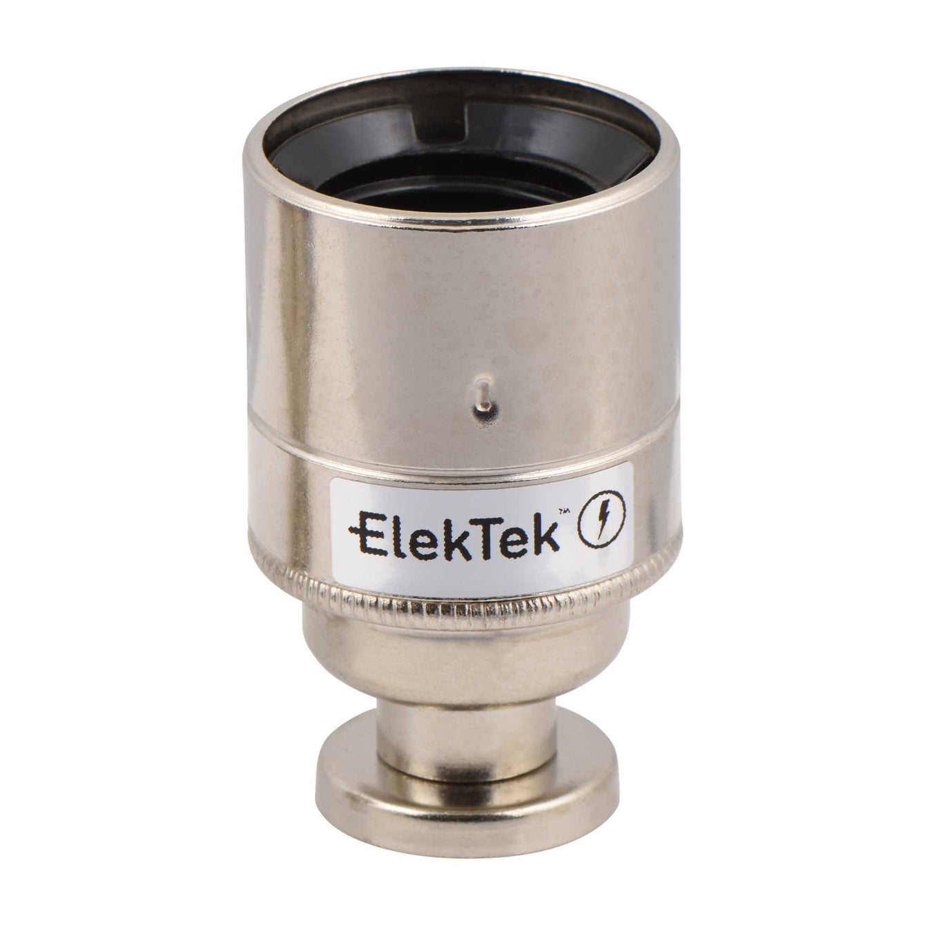 ElekTek ES Edison Screw E27 Lamp Holder Plain Skirt With Back Plate Cover and Screws Brass