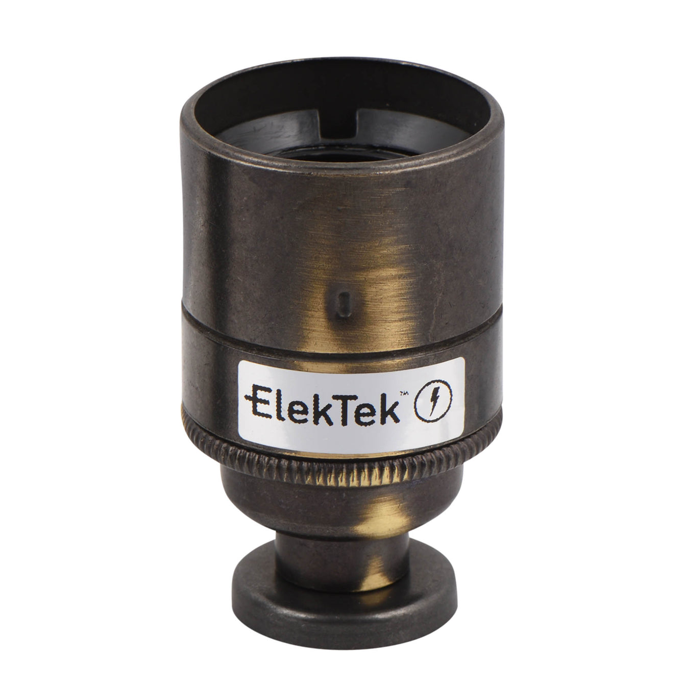 ElekTek ES Edison Screw E27 Lamp Holder Plain Skirt With Back Plate Cover and Screws Brass - Buy It Better Bronze