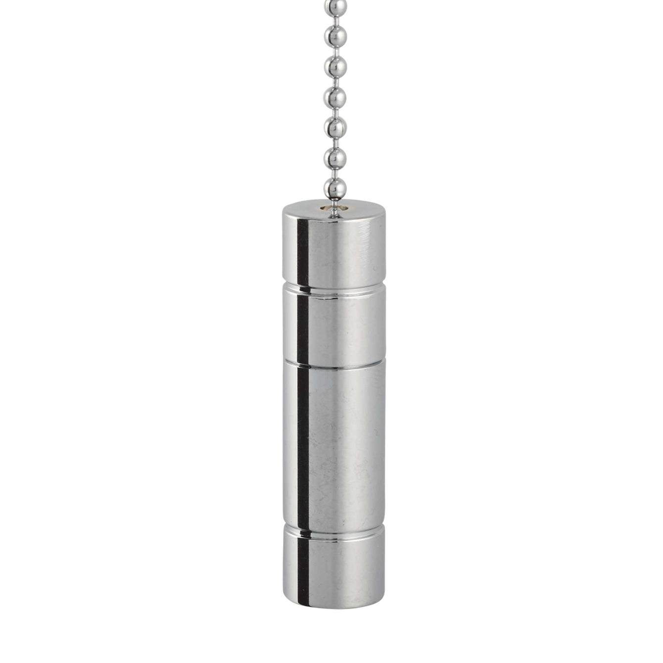 ElekTek Light Pull Chain Chrome Pendant With 80cm Matching Chain - Buy It Better Small Cylinder