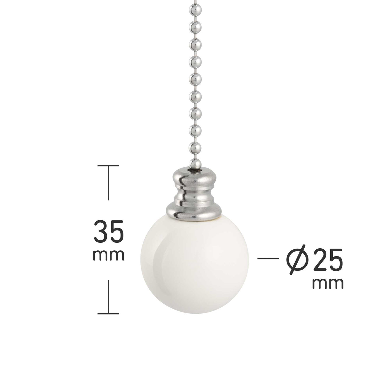 ElekTek Light Pull Chain Ball With 80cm Matching Chain - Buy It Better Dark Oak