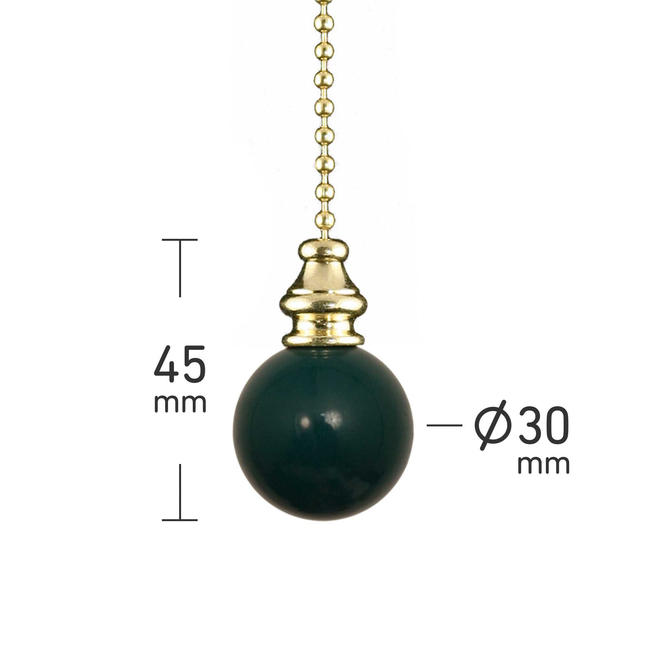 ElekTek Light Pull Chain Ball With 80cm Matching Chain - Buy It Better