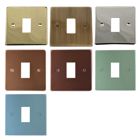 ElekTek Light Switch Conversion Cover Plate Single Victorian