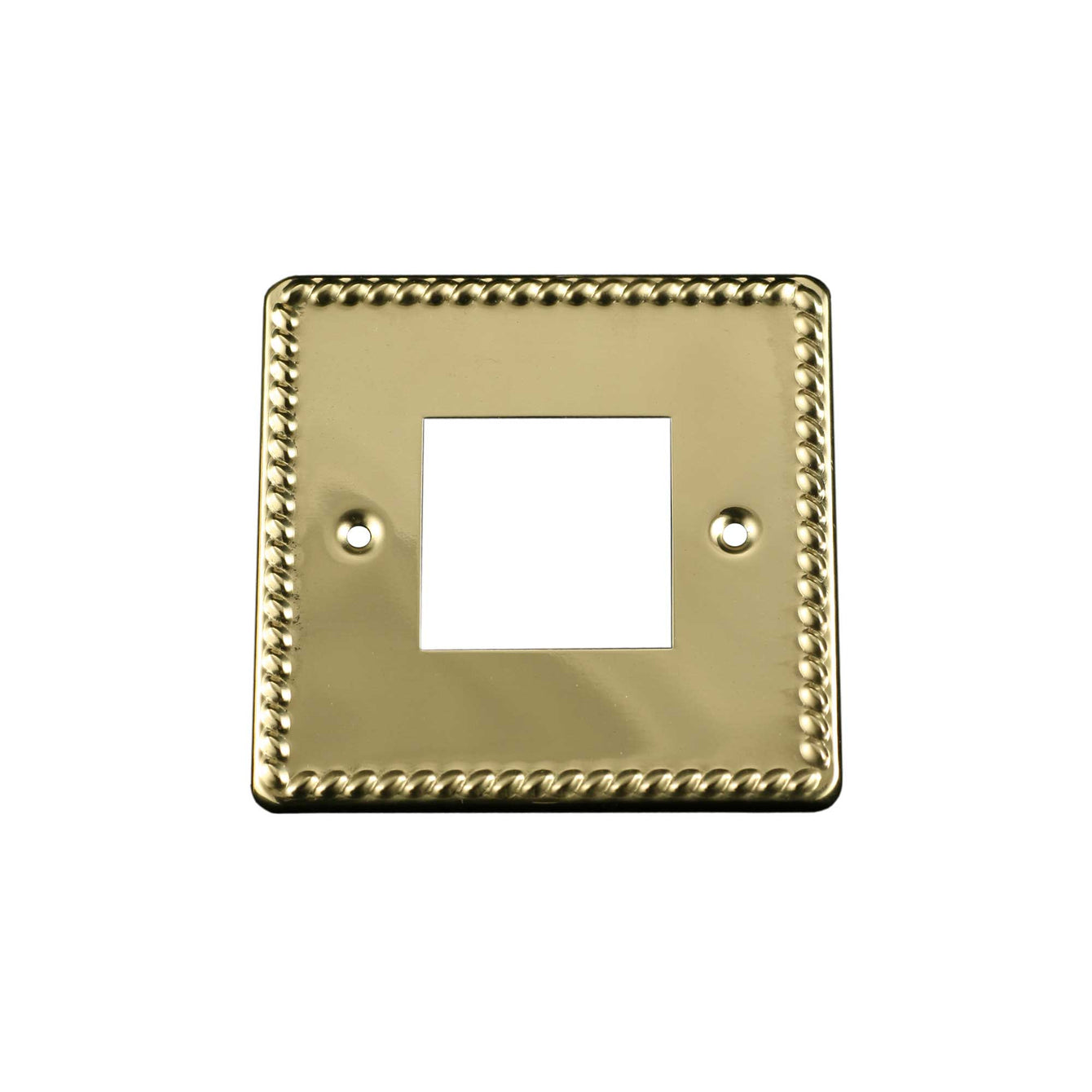ElekTek Light Switch Conversion Cover Plate Georgian Brass Single Double