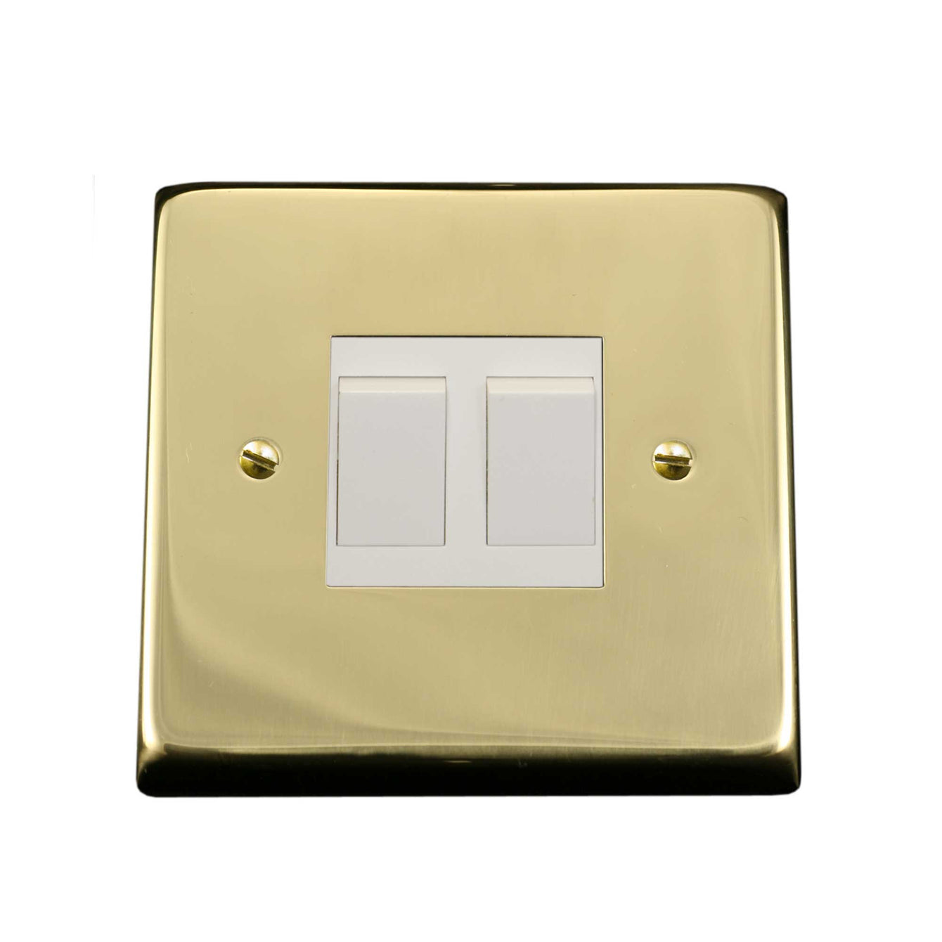 ElekTek Light Switch Conversion Cover Plate Double Victorian - Buy It Better Chrome