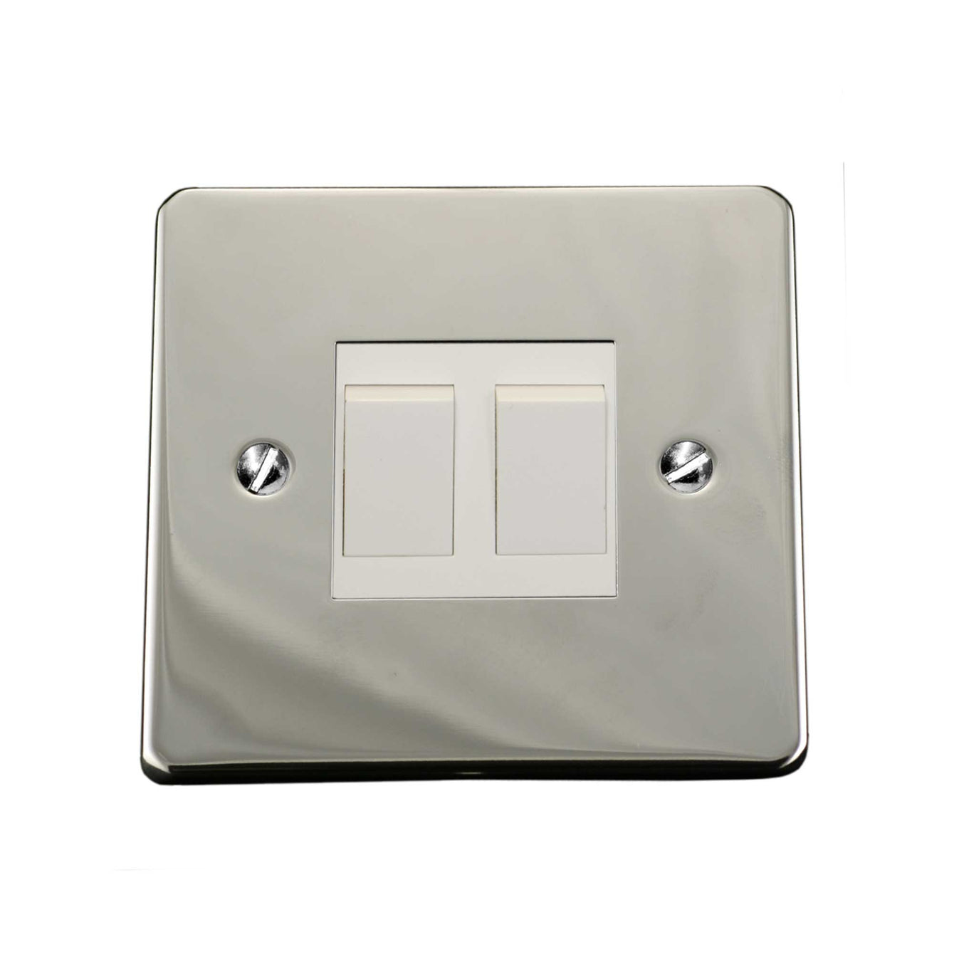 ElekTek Light Switch Conversion Cover Plate Double Victorian Dawn Blue
