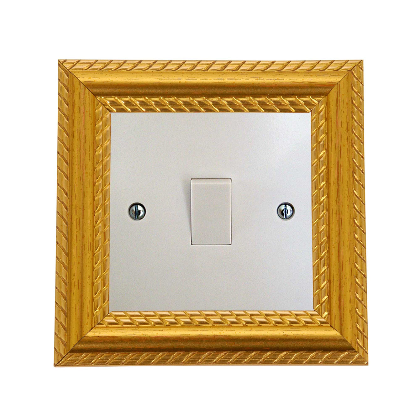ElekTek Switch Surround Georgian Gold Rope Effect Frame Cover Finger Plate - Buy It Better